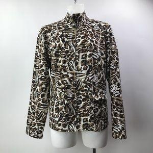 Zenergy By Chico's Size 1 Women's ZipUp Jacket.